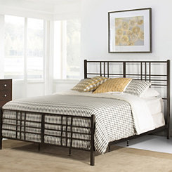 Cheyenne Dark Pewter Metal King Bed