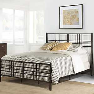 Cheyenne Dark Pewter Metal Queen Bed