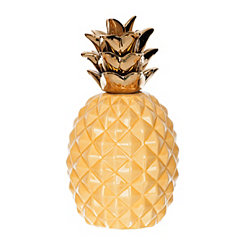 Yellow and Gold Pineapple Figurine