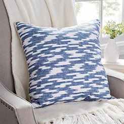 Batik Blue Printed Linen Pillow