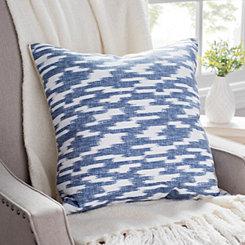 Batik Blue Printed Linen Pillow