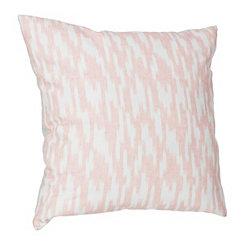 Batik Blush Printed Linen Pillow