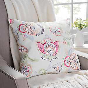 Multicolor Floral Linen Pillow