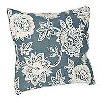 Blue Floral Chainstitch Pillow