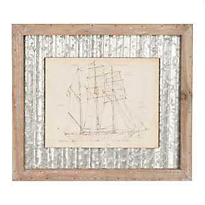 Galvanized Sailboat Framed Art Print
