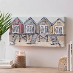 Beach Houses Canvas Art Print