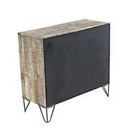 Rustic Teak 4-Drawer Chest