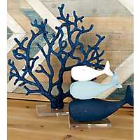 Blue Coral Sculpture on Acrylic Base