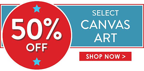 50% off Select Canvas Art - Shop Now
