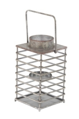 Steel Tower Lantern with Handle