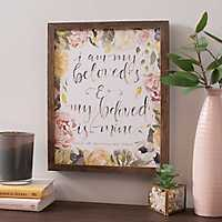 My Beloved Floral Framed Art Print