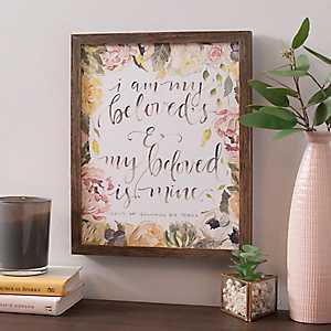 My Beloved Floral Framed Art Print