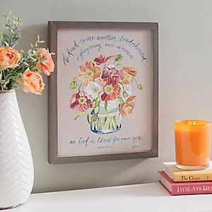 Christ Forgave You Floral Framed Art Print