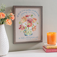 Christ Forgave You Floral Framed Art Print