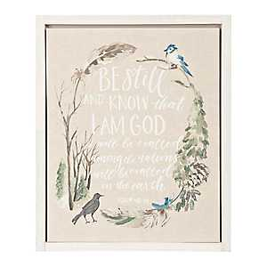 Be Still and Know Framed Art Print