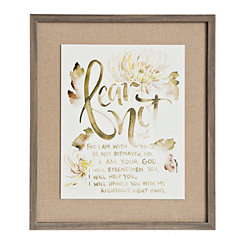 Fear Not Floral Framed Art Print