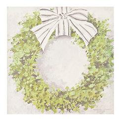 Boxwood Wreath Canvas Art Print