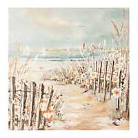 Beach Path Hand Painted Canvas Art Print