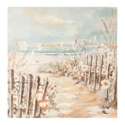 Beach Path Hand Painted Canvas Art Print