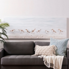 Sandpipers Hand Painted Canvas Art Print