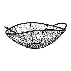 Black Chicken Wire Bowl