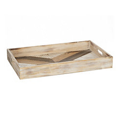 Criss Cross Wood Tray