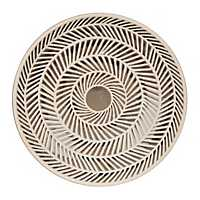 Gray Herringbone Decorative Charger