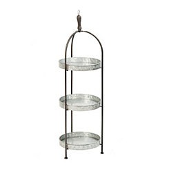 Galvanized Metal 3-Tier Stand