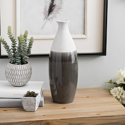 Natural and Gray Glaze Vase