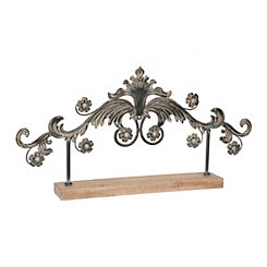 Metal Flower Tabletop Finial