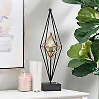 Flynn Caged Metal Cordless Table Lamp
