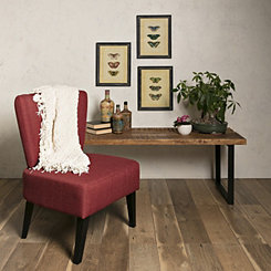 Chaplin Red Flared Back Accent Chair