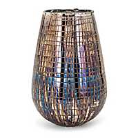 Reagan Embossed Iridescent Vase, 12 in.