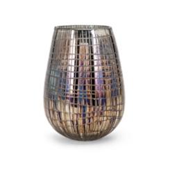 Reagan Embossed Iridescent Vase, 9 in.
