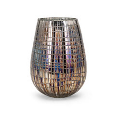 Reagan Embossed Iridescent Vase, 9 in.
