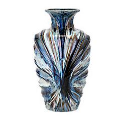 Milan Blue and Brown Glaze Vase