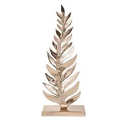Metallic Gold Leaf Sculpture