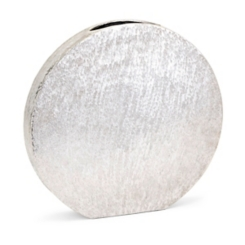 Silver Medium Decorative Metallic Disk Vase