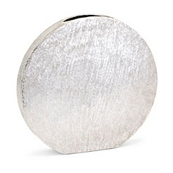 Silver Medium Decorative Metallic Disk Vase