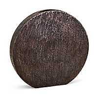 Bronze Large Decorative Metallic Disk Vase