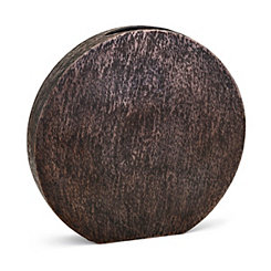 Bronze Large Decorative Metallic Disk Vase