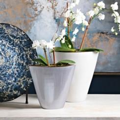 Petra Gray Pearlescent Decorative Vase