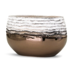 Rippled Metallic Bronze Decorative Vase