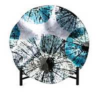 Turquoise Burst Charger with Stand