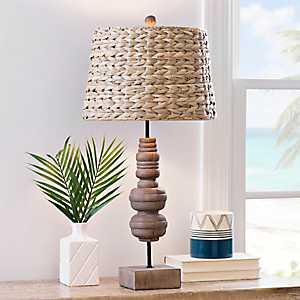 Tropicana Woven Shade Table Lamp
