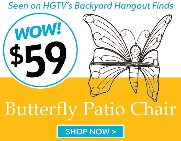 $59 Butterfly Patio Chair - Seen on HGTV'd Backyard Hangout Finds - Shop Now
