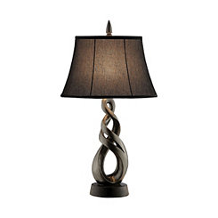 Dark Gunmetal Freeform Table Lamp