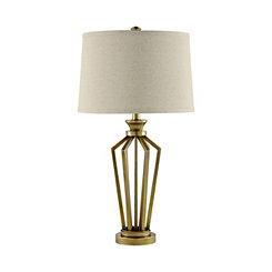 Antique Brass Open Fretwork Table Lamp
