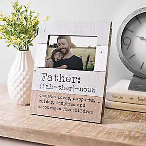 Definition of a Father Picture Frame, 4x6