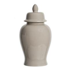 Gray Ginger Ceramic Jar, 18 in.